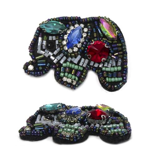 КС019 Аппликация Цветной слон 57*43мм