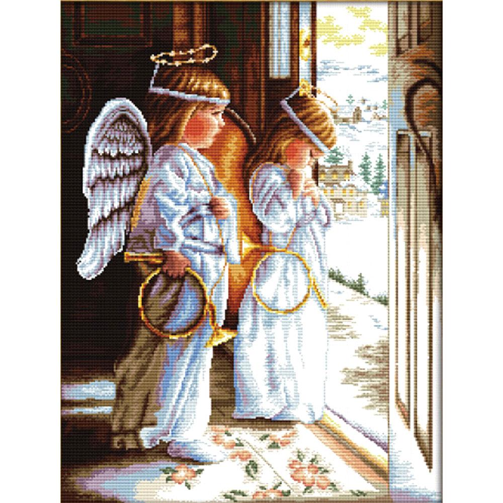S-074 Набор для вышивания Hobby&Pro 'Ангелы', 34*53 см