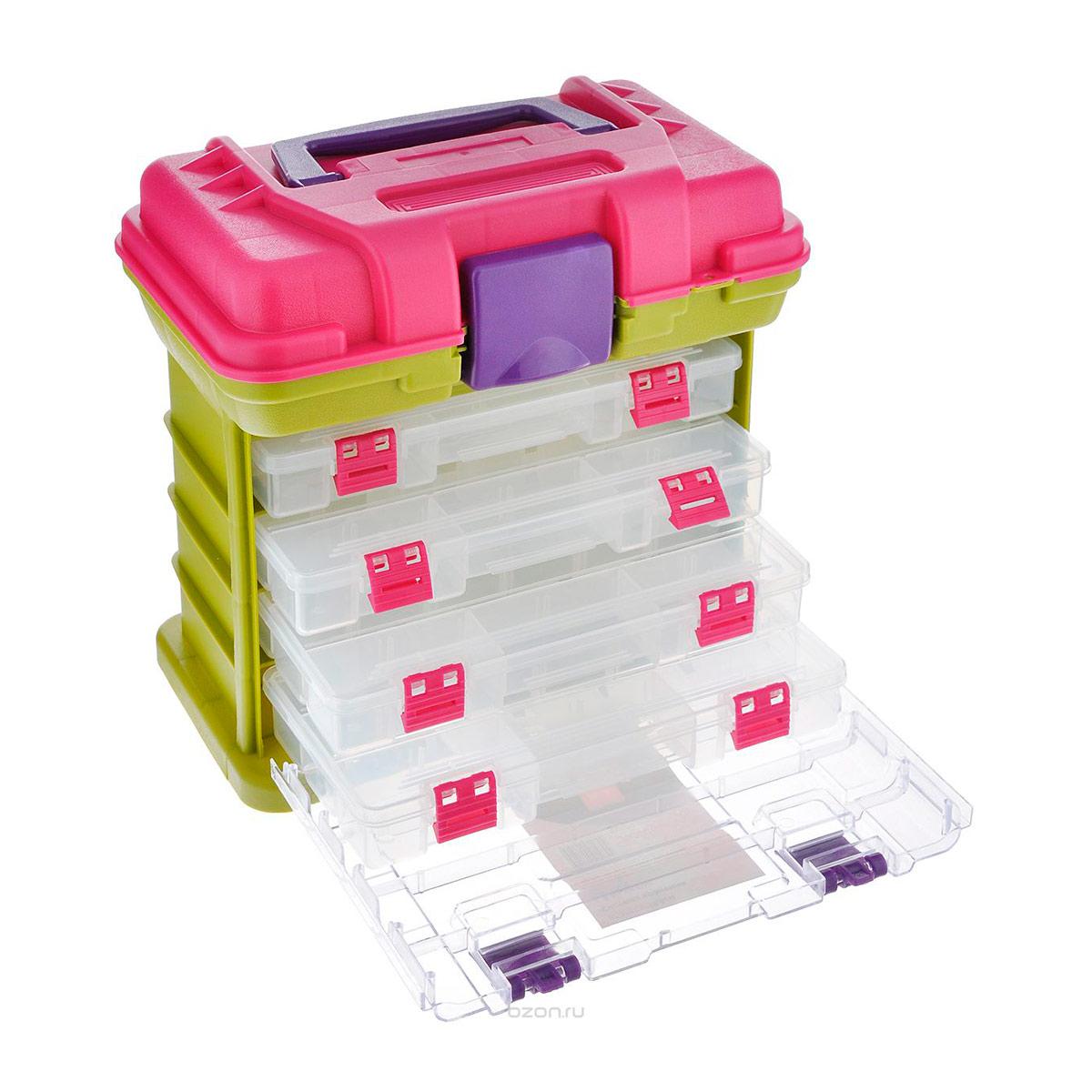930527 Система хранения с 4 ящиками, 27.5*17.0*25.6см Hobby&Pro