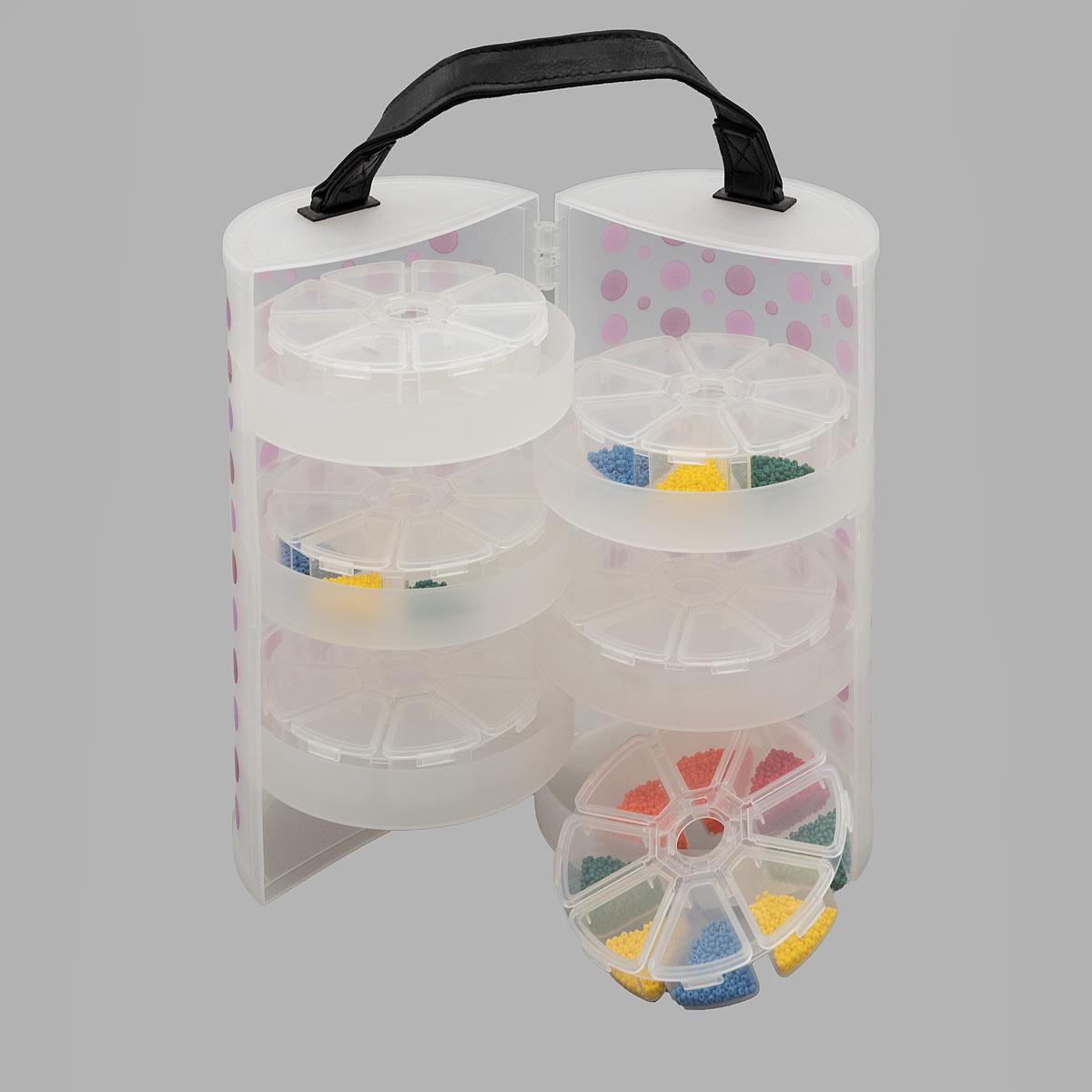 Органайзер для хранения с 6 контейнерами 930529, 13,0x13,0x23,0 см, Hobby&Pro