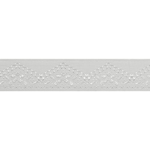 16710 Тесьма жаккардовая 16мм*10м, бел/серебро