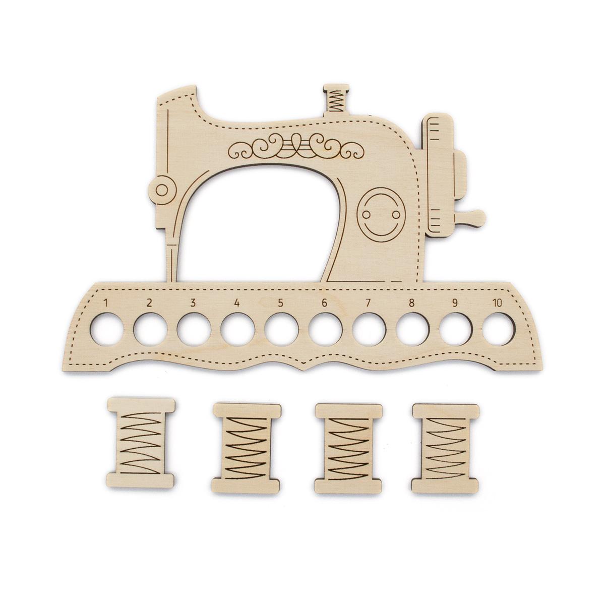 ОР-037 Органайзер для ниток МП Студия 'Швейная машинка' 12*20см+4 бобины для ниток