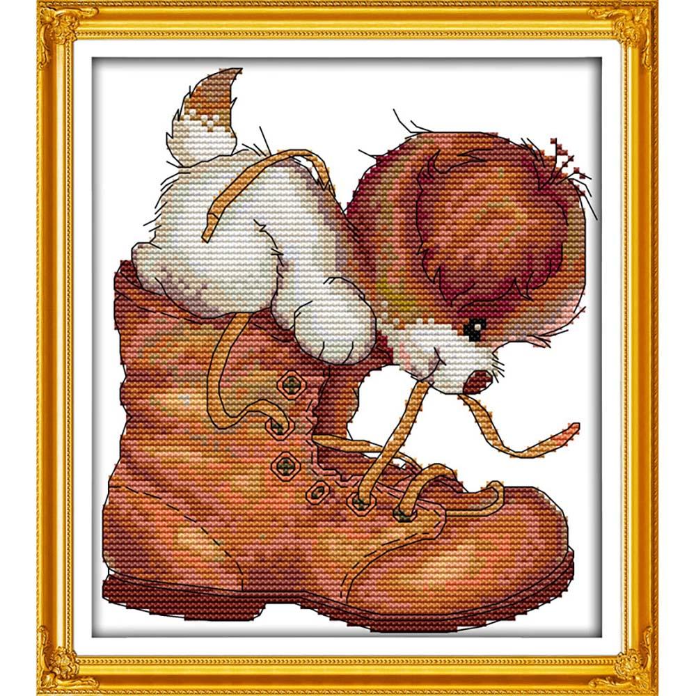 """Набор для вышивания крестом S-082 """"Проказник"""", 16x18 см, Hobby&Pro"""
