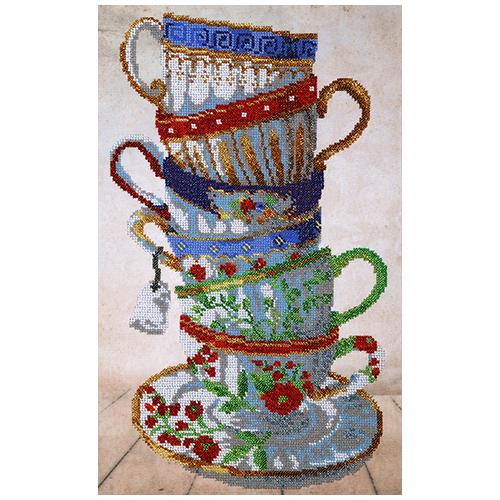 """Набор для вышивания бисером """"Чайный сервиз"""" 25х40 см, БН-3400, Hobby&Pro"""