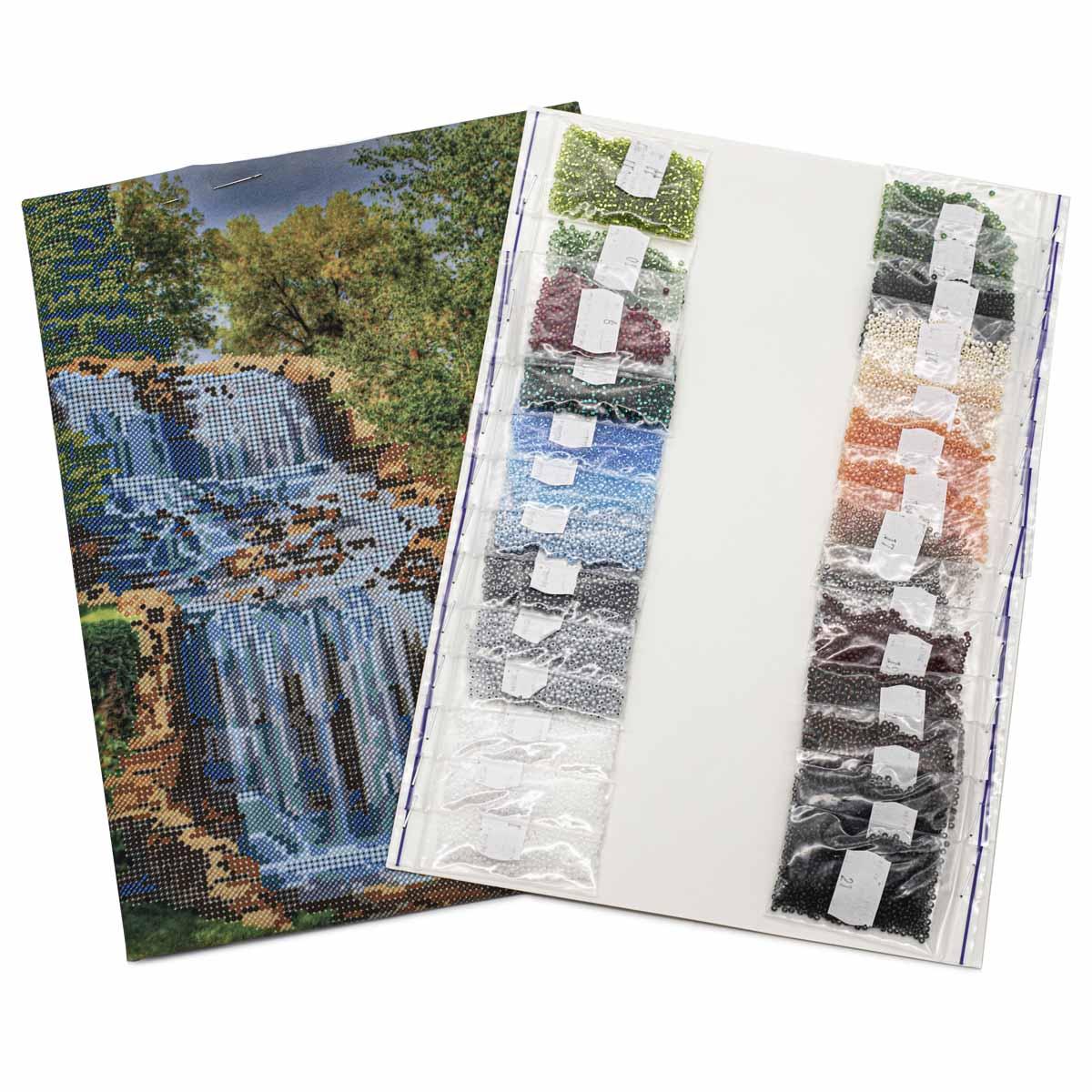 """Набор для вышивания бисером """"Водопад"""" БН-3401, 26х38 см, Hobby&Pro"""