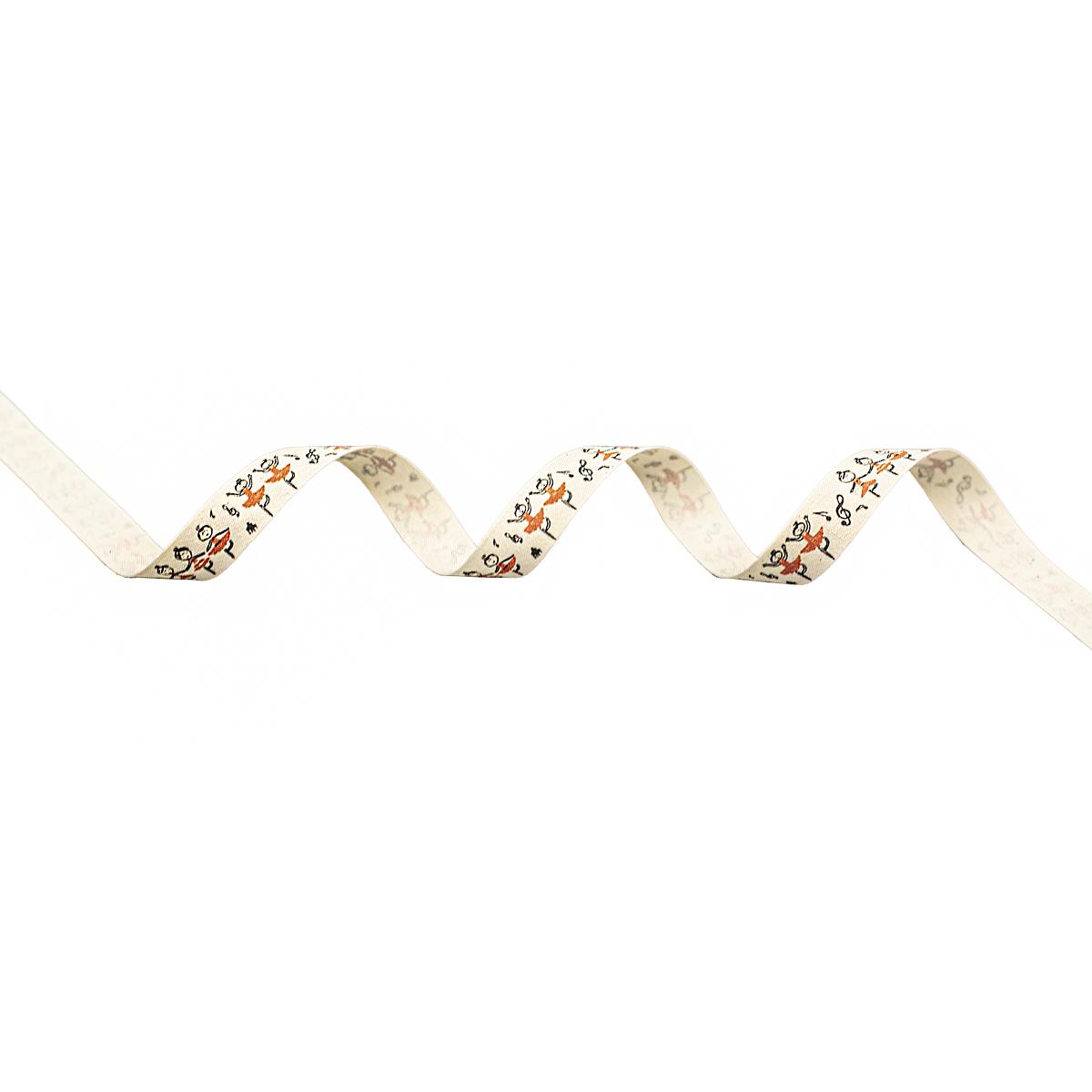 CPR022 Лента декоративная 'Танец' 100% хб, 15мм*25м