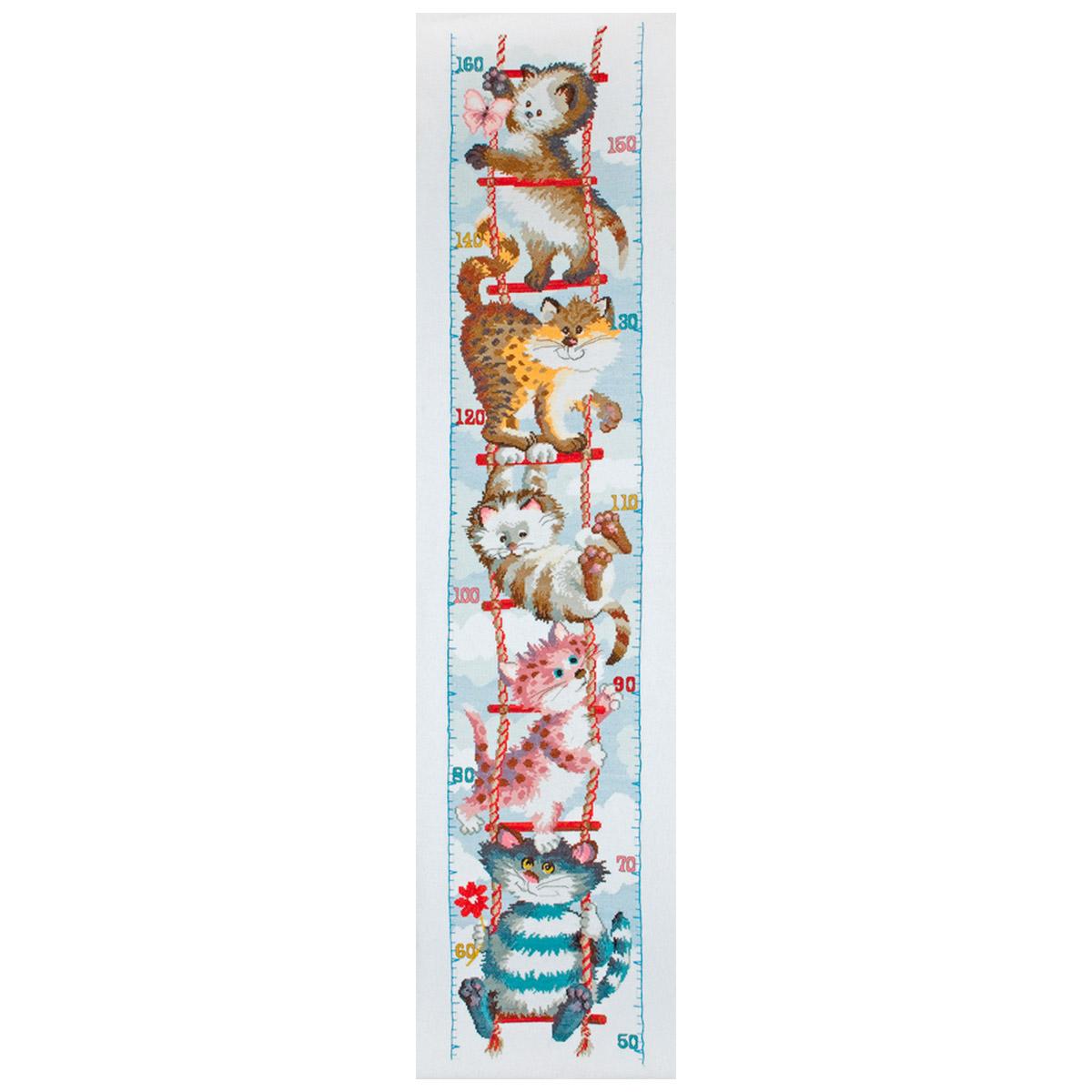 PIO0001 Набор для вышивания Anchor 'Кошки' 27,5x125 см