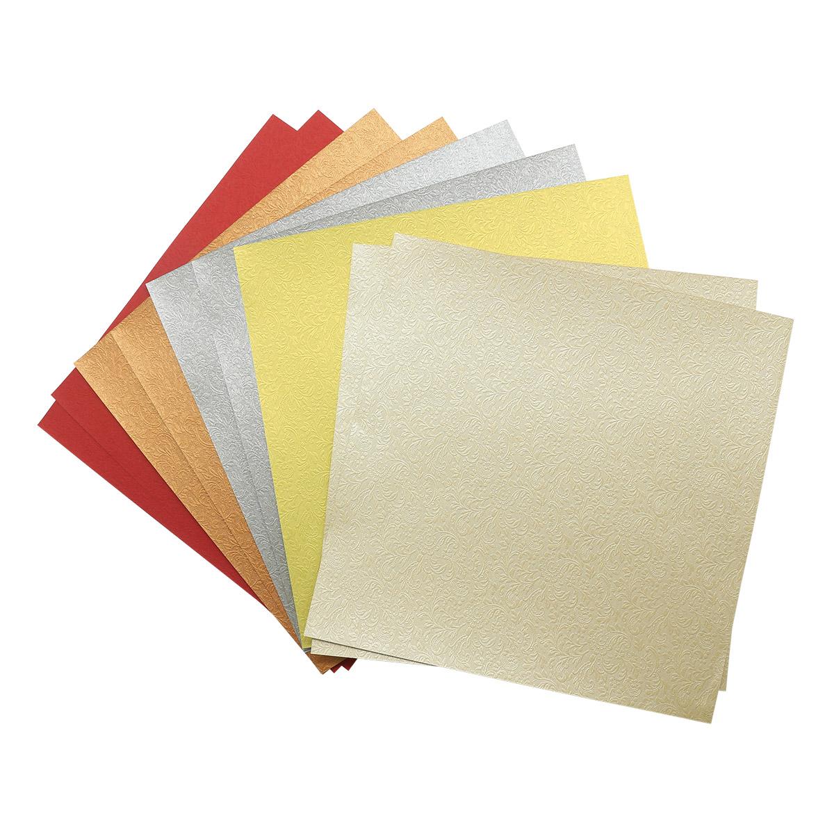 Текстурированная бумага для скрапбукинга 'Лунный цветок', 120 гр., 20*20 см, 'Астра'
