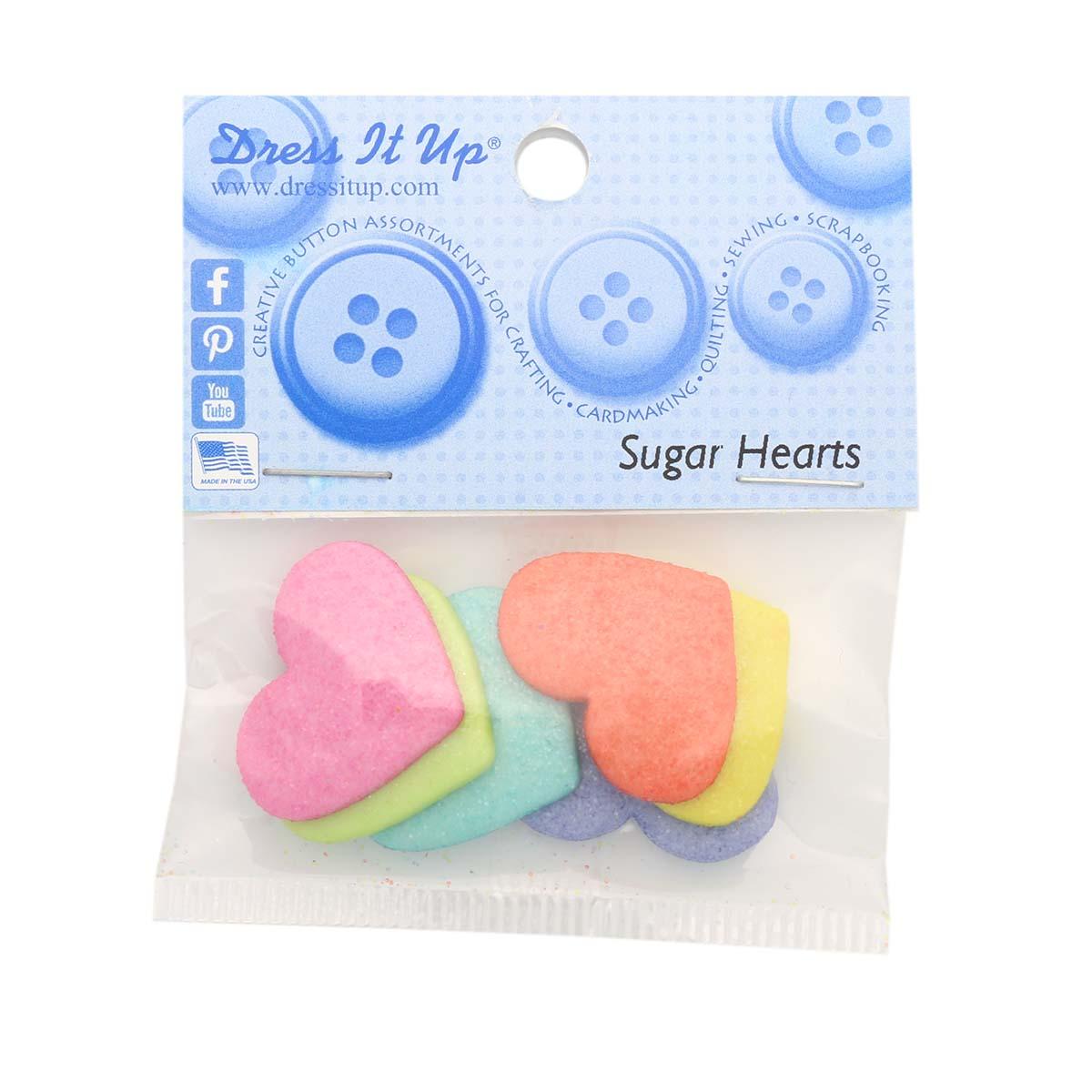 8992, Пуговицы-фигурки. Сахарные сердца Dress It