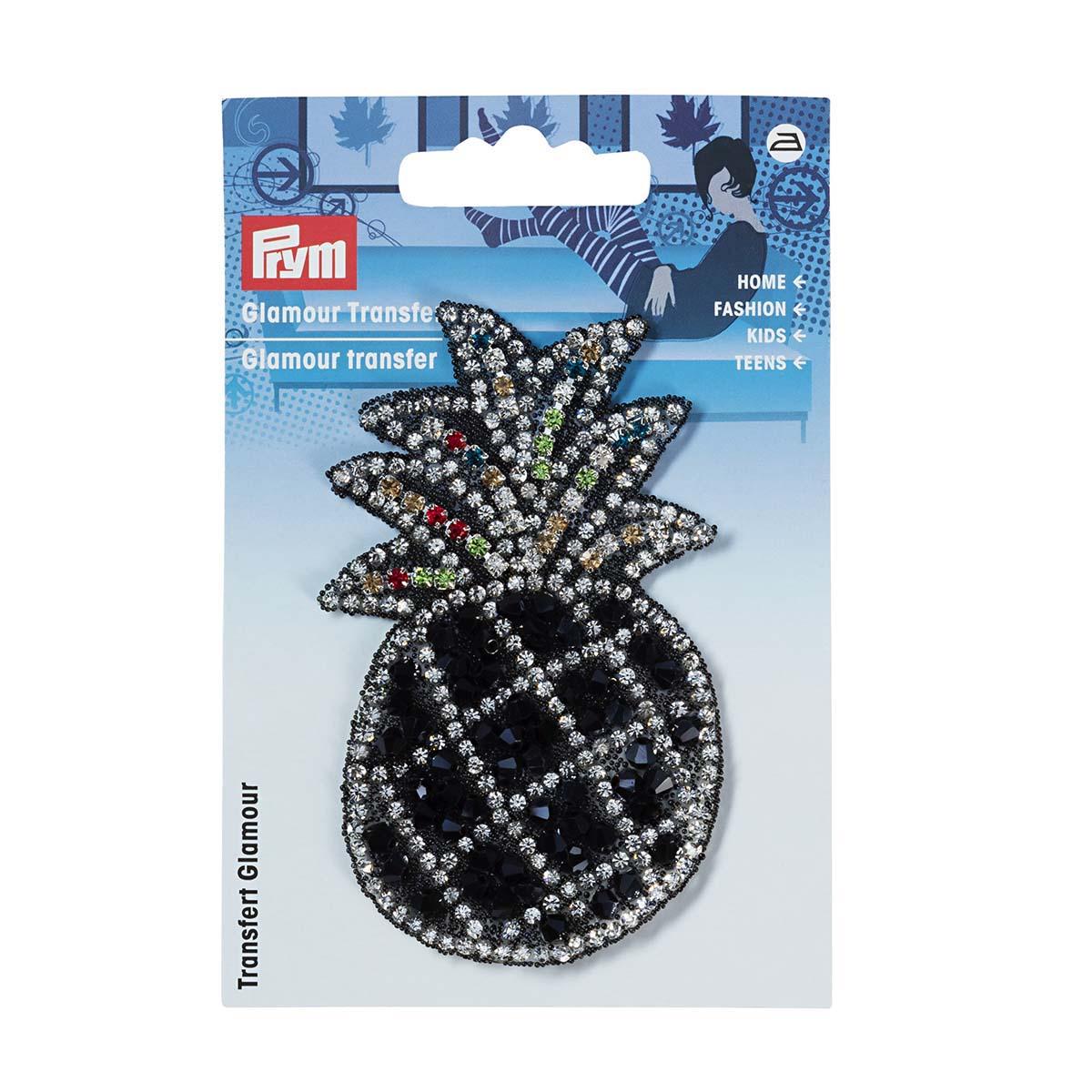 926670 Аппликация 'Ананас' черный/серебряный цв. 1шт Prym