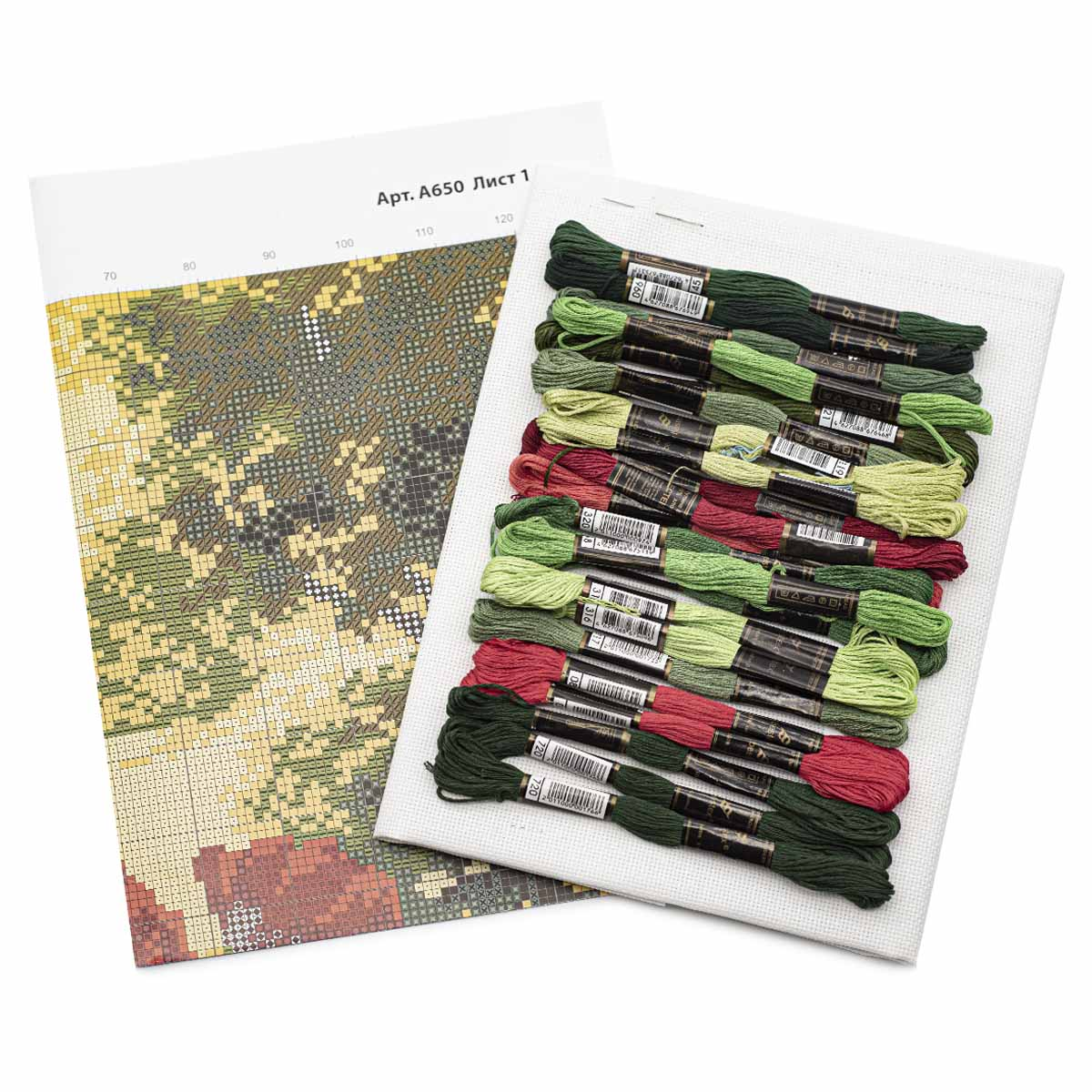 """Набор для вышивания 650 """"Лесные маки"""", 24х35 см, Hobby&Pro"""