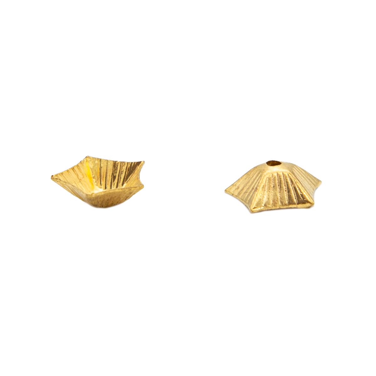 17-0020 Окончания (шапочки для бусин) золото 9*3мм
