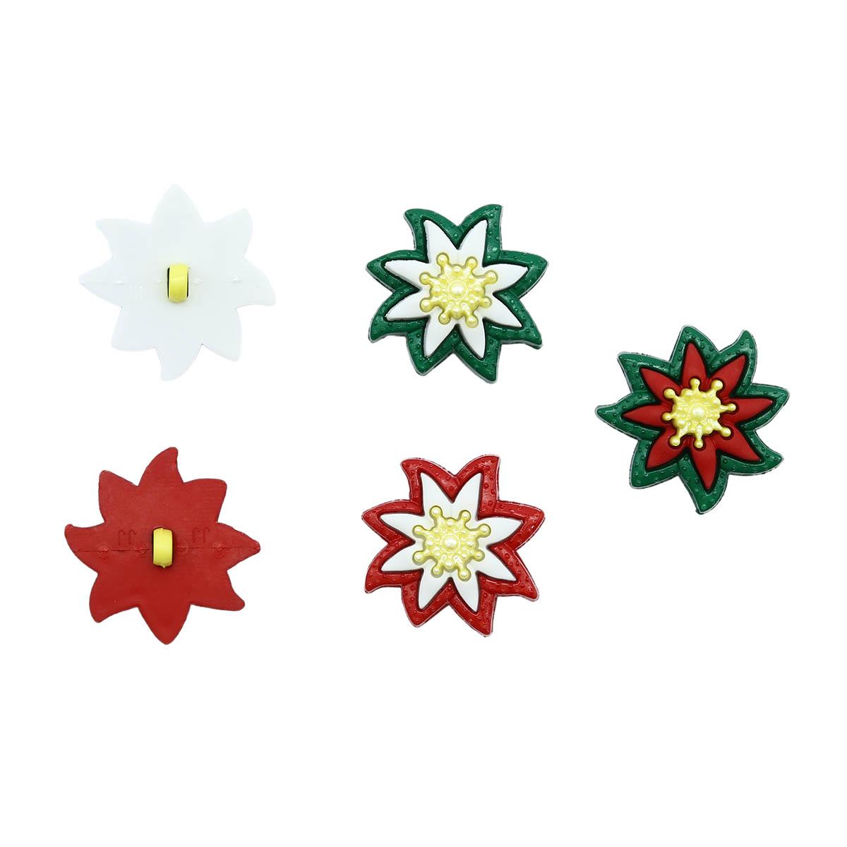 9001, Пуговицы-фигурки. Рождественские лилии Dress It