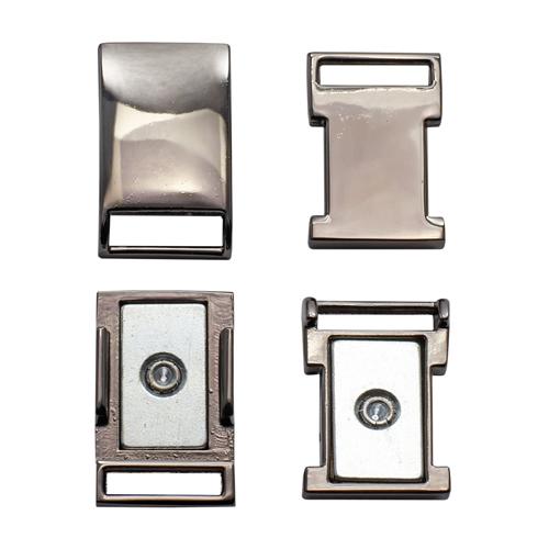 62161 Пряжка-застежка магнитная 10мм ч.ник.мет.
