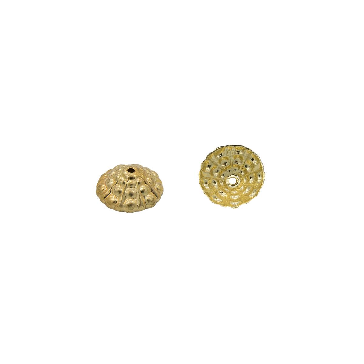 17-0021 Окончания (шапочки для бусин) золото 11*4мм
