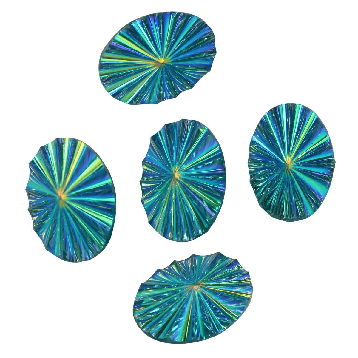Пуговицы 'Кристал' 9PPC7558 18*25мм, 5шт