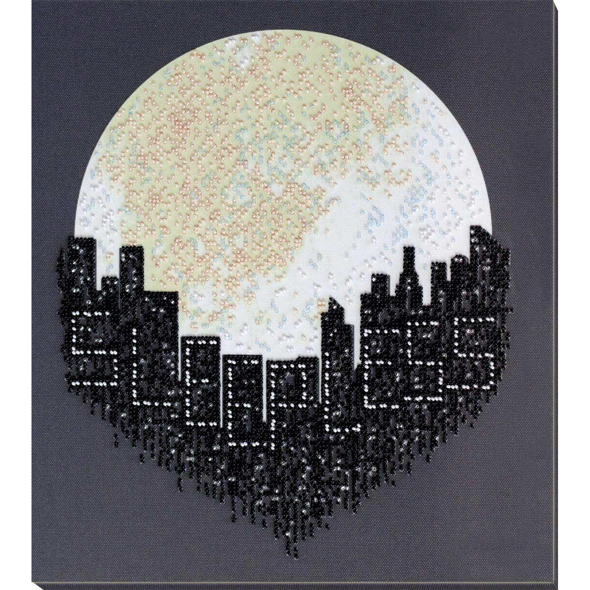 АВ-812 Набор для вышивания бисером 'Город не спит' 31*32см