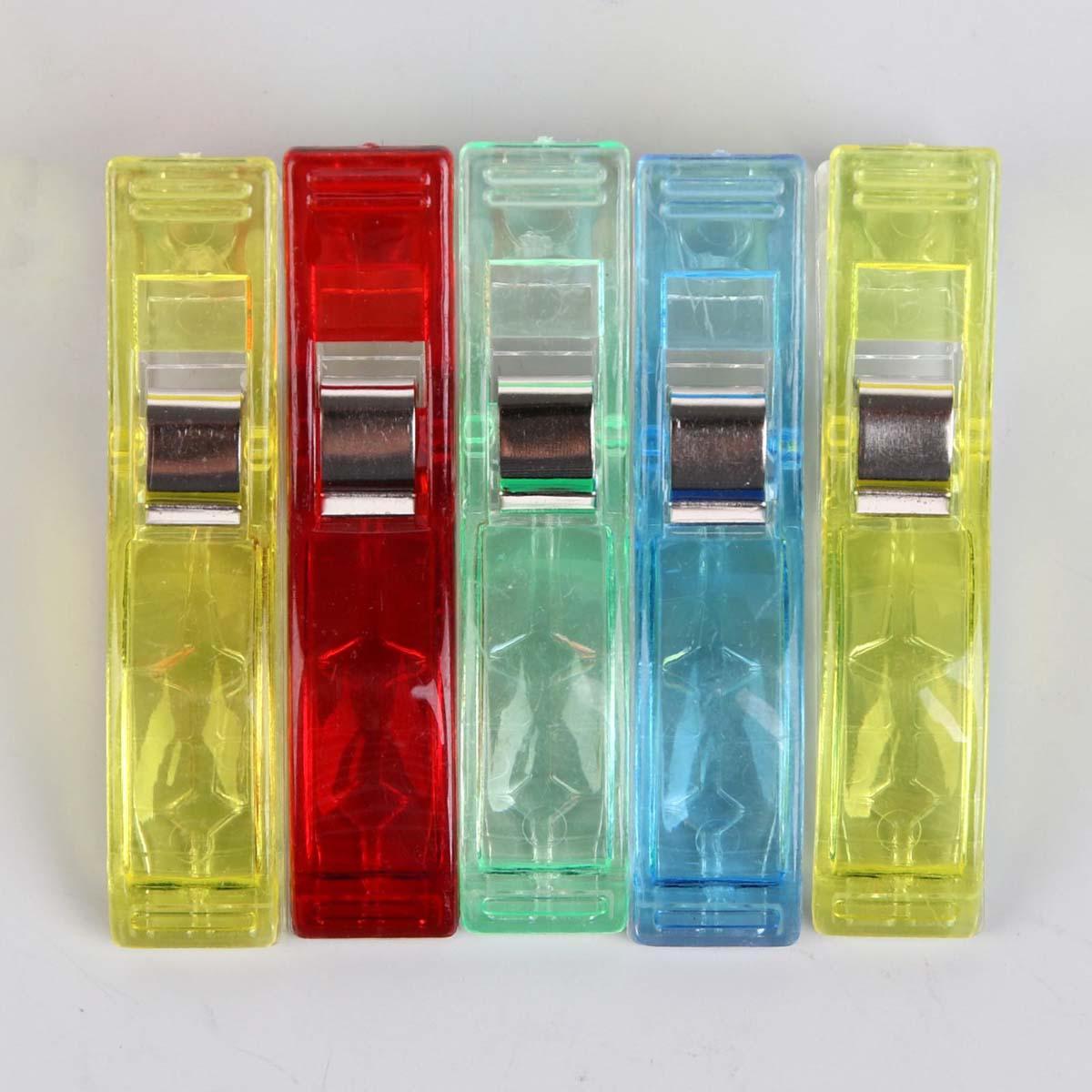 3780142 Зажимы для кроя пластик 5,5см, упак/5шт МИКС