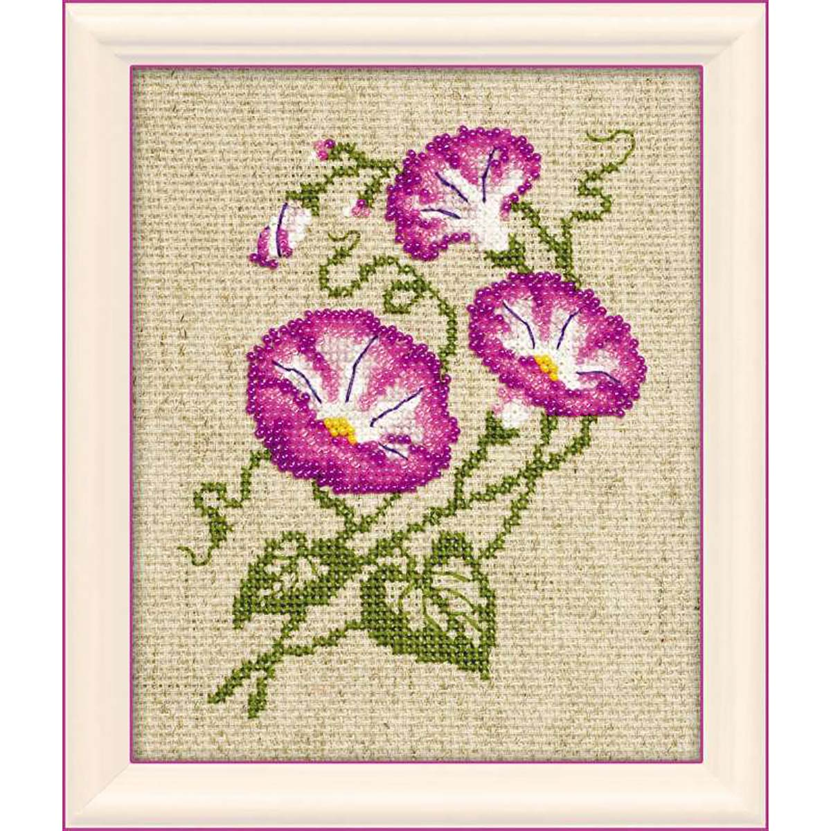 1251 Набор для вышивания бисером Riolis 'Полевые вьюнки', 13*16 см