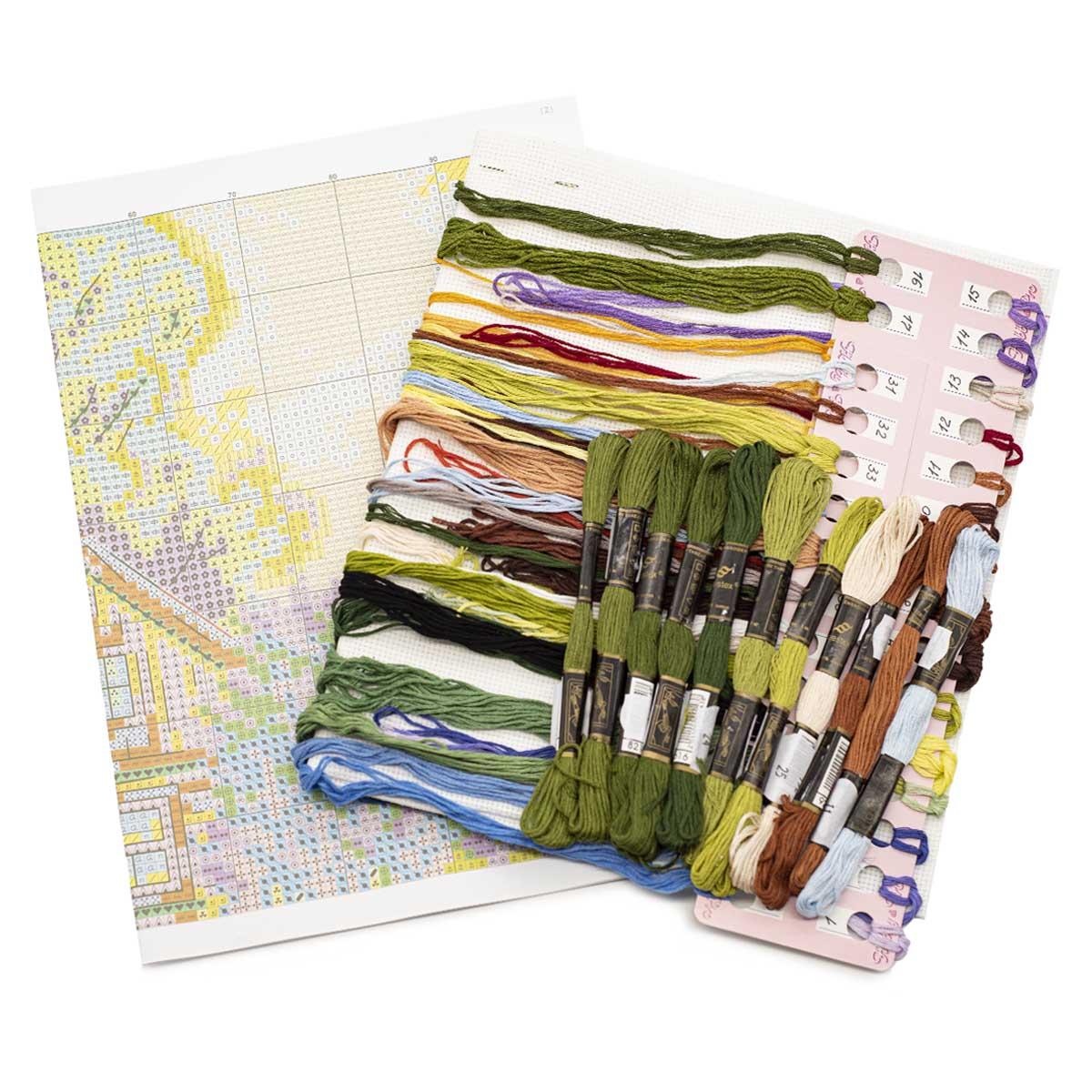 """Набор для вышивания """"Деревушка"""" 952, 36х23 см, Hobby&Pro"""