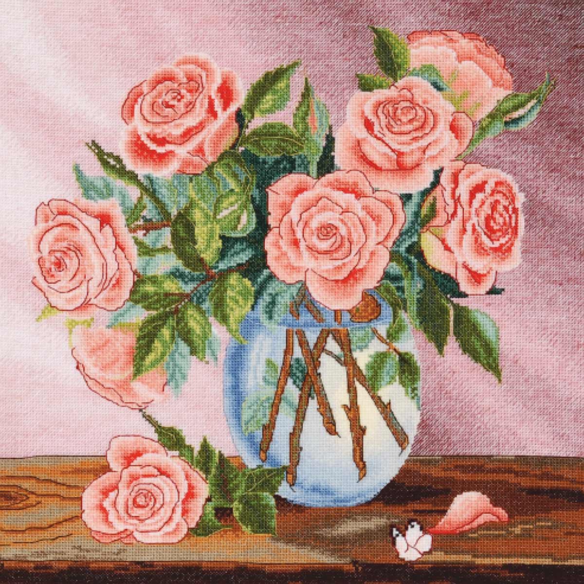 "Набор для вышивания ""Букет роз"" 954, 32х32 см, Hobby&Pro"