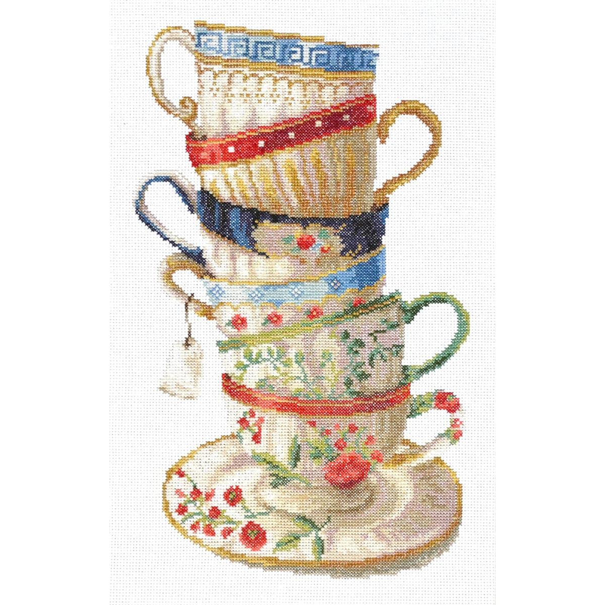 Набор для вышивания'Чайный сервиз' 20*35см, 956, Hobby&Pro