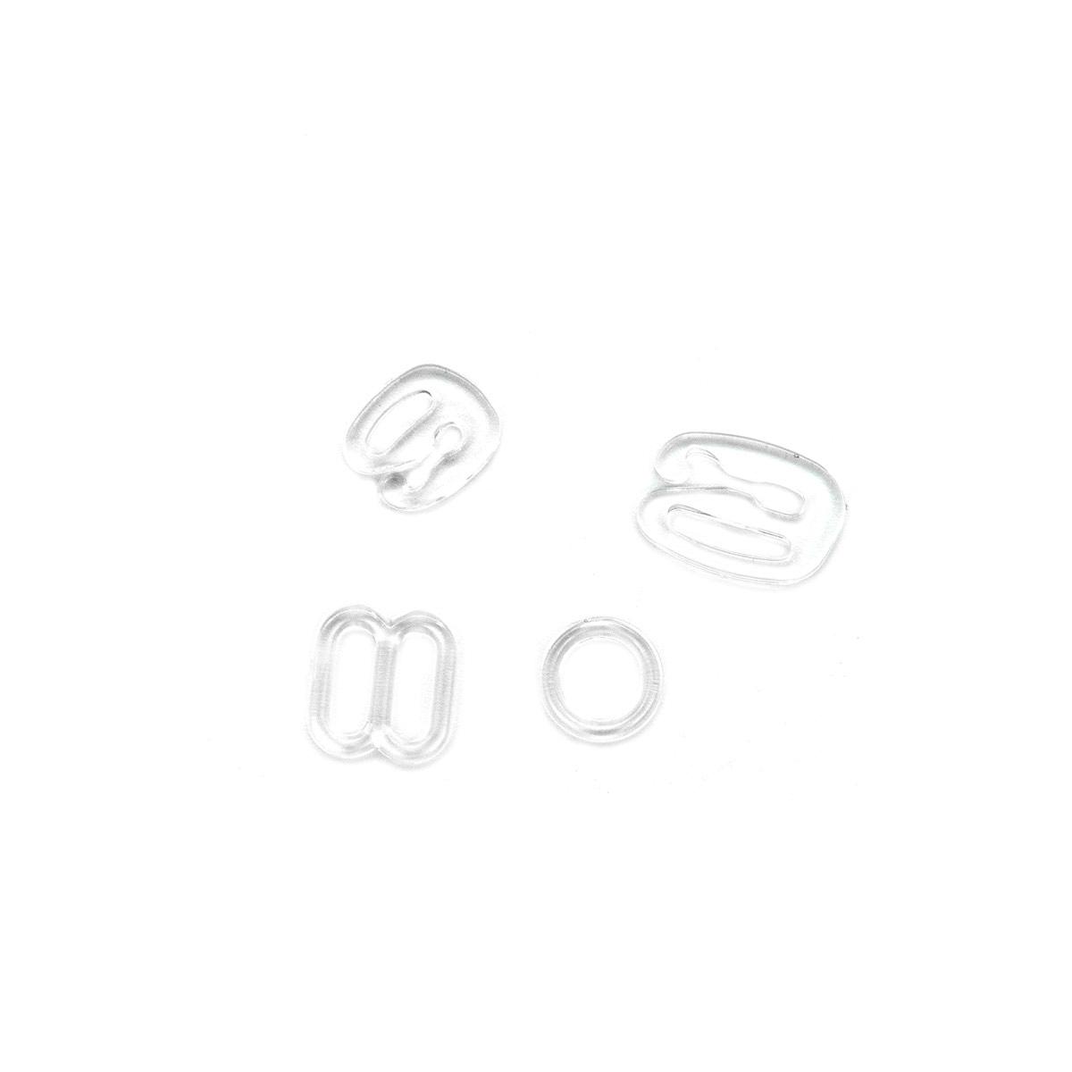 991890 Аксессуары для бюстгальтера, пластик, прозрачный, 6+8 мм, упак./12 шт., Prym