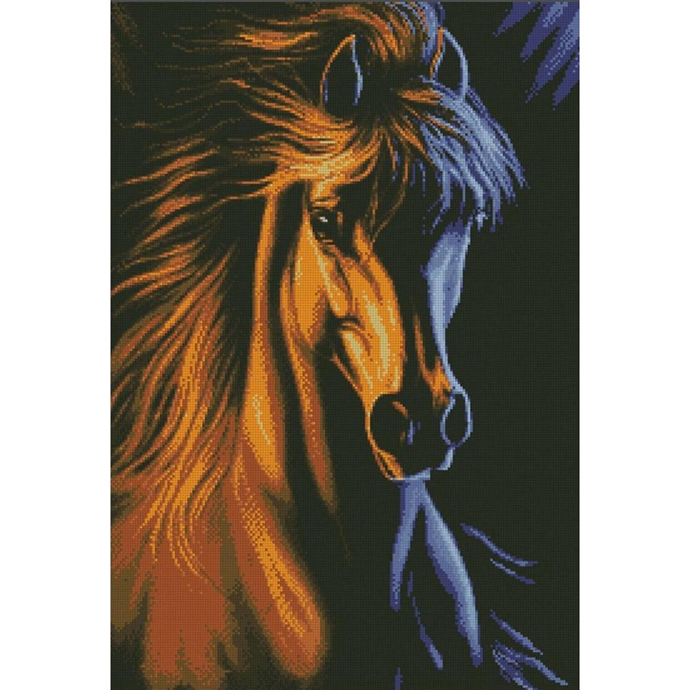 """Набор для вышивания крестом S-046 """"Огненный конь"""", 36х50 см, Hobby&Pro"""
