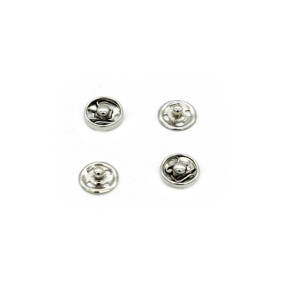 Кнопки для легких тканей пришивные, 10 компл., 7 мм, никель 512106, Hobby&Pro