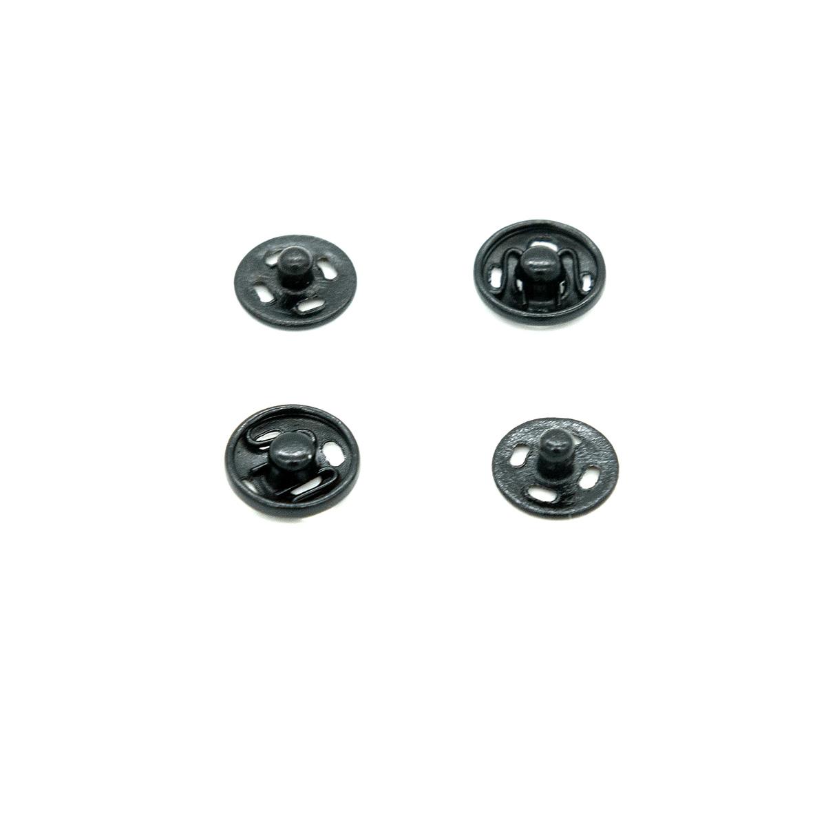 Кнопки для легких тканей пришивные, 10 компл., 9 мм, черные 512109, Hobby&Pro