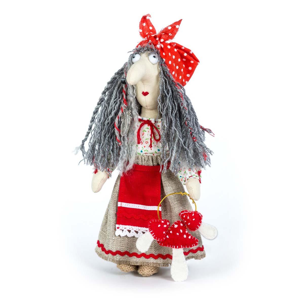 ПЛДК-1453 Набор для создания текстильной игрушки серия Домовёнок и компания 'Баба Яга'