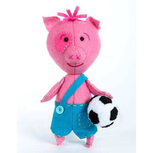 ПФД-1063 Набор для создания игрушки из фетра Детки 'Поросёнок Футболист'