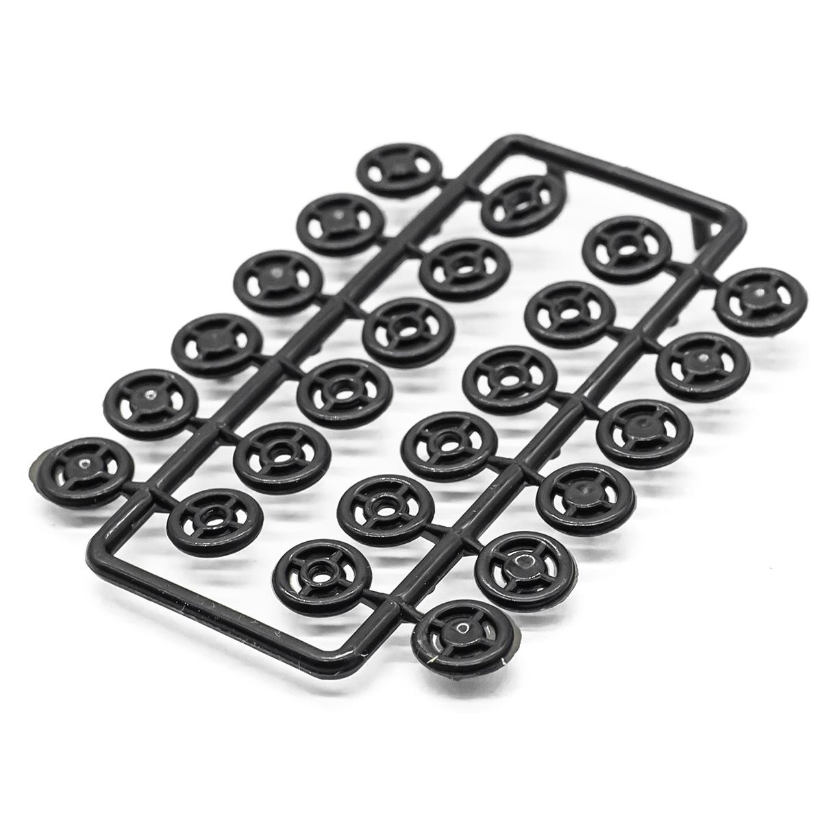 Кнопки для легких тканей, черные, 12 компл. 7мм  512101, Hobby&Pro
