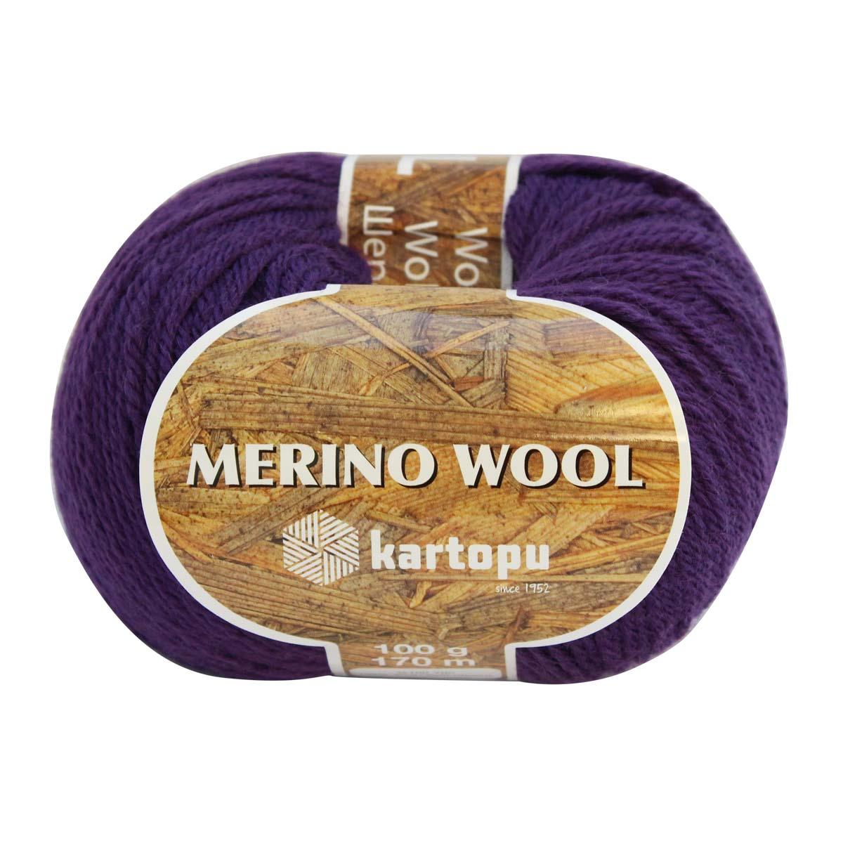 Пряжа KARTOPU 'MERINO WOOL' 100гр. 170м (100% шерсть)