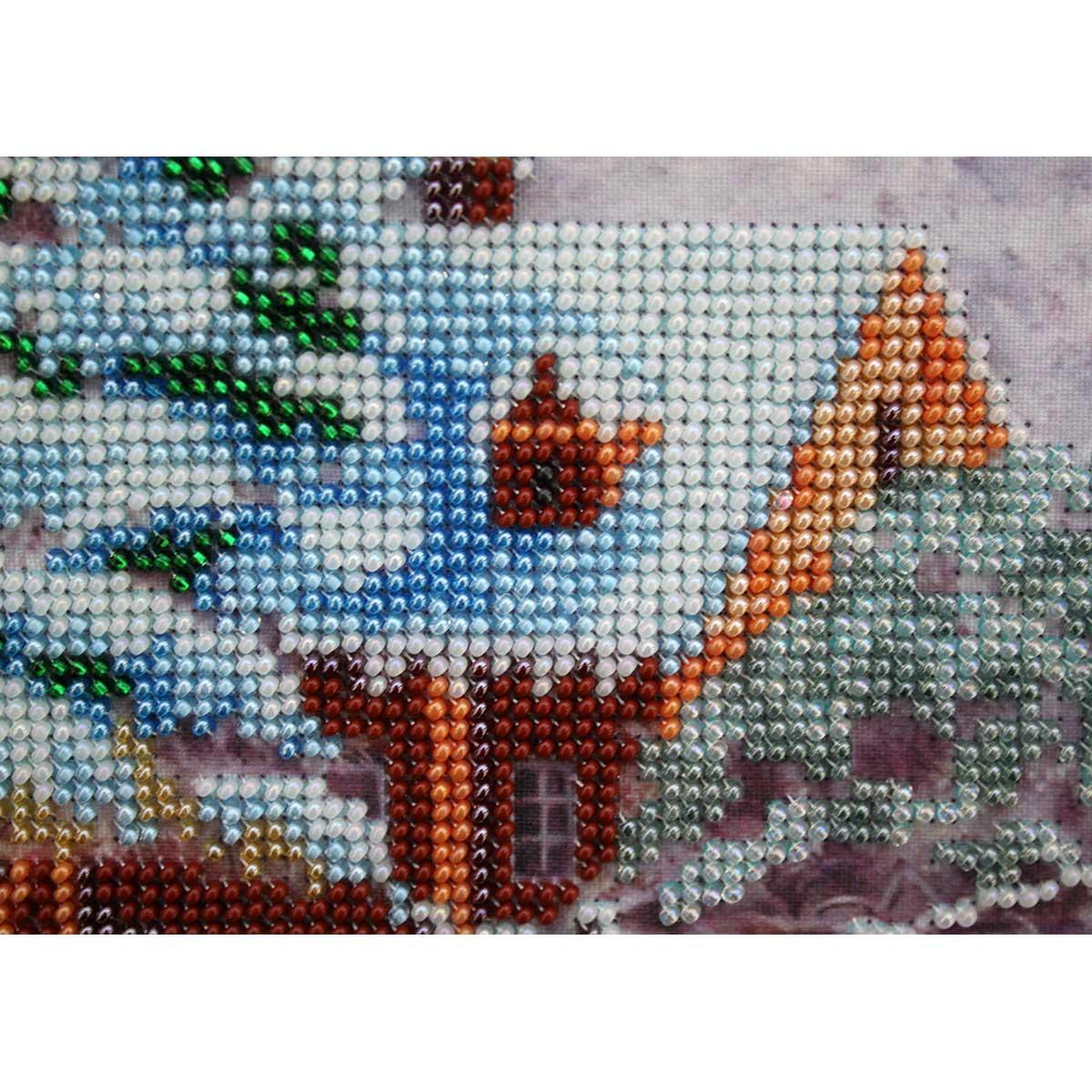 "Набор для вышивания бисером БН-3131 ""Сударыня зима"", 36х30 см, Hobby&Pro"