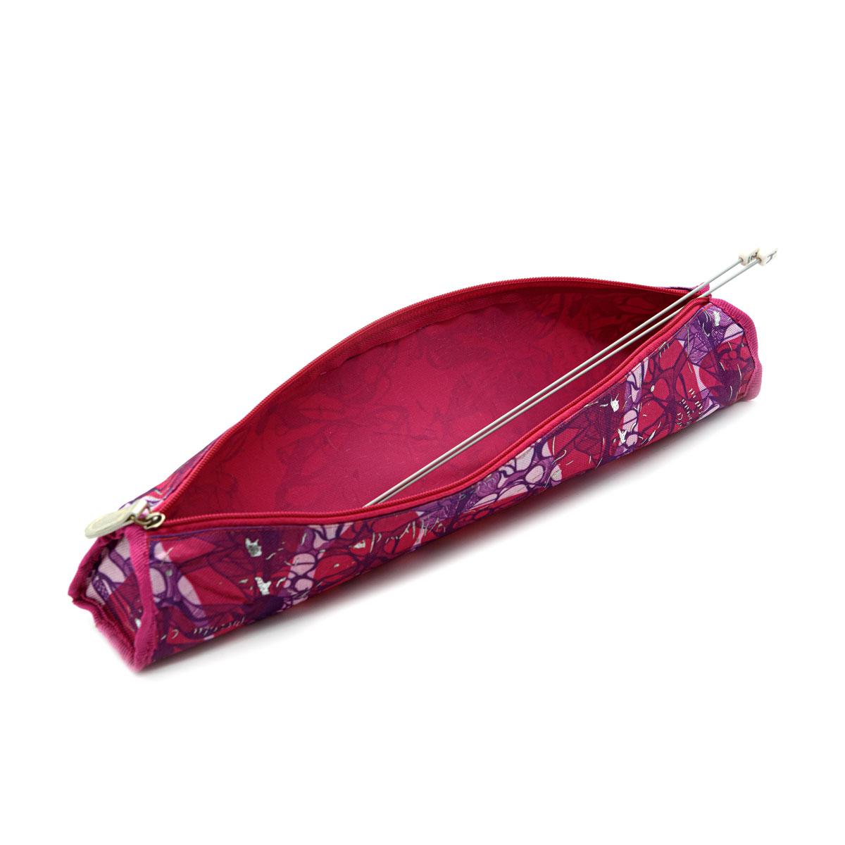 Футляр для хранения вязальных принадлежностей 890506, 40х6 см, малиновый цвет, Hobby&Pro