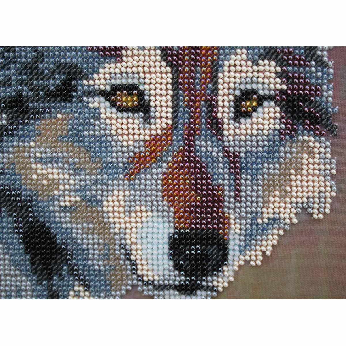 """Набор для вышивания бисером БН-3076 """"Пара волков"""", 40х35 см, Hobby&Pro"""