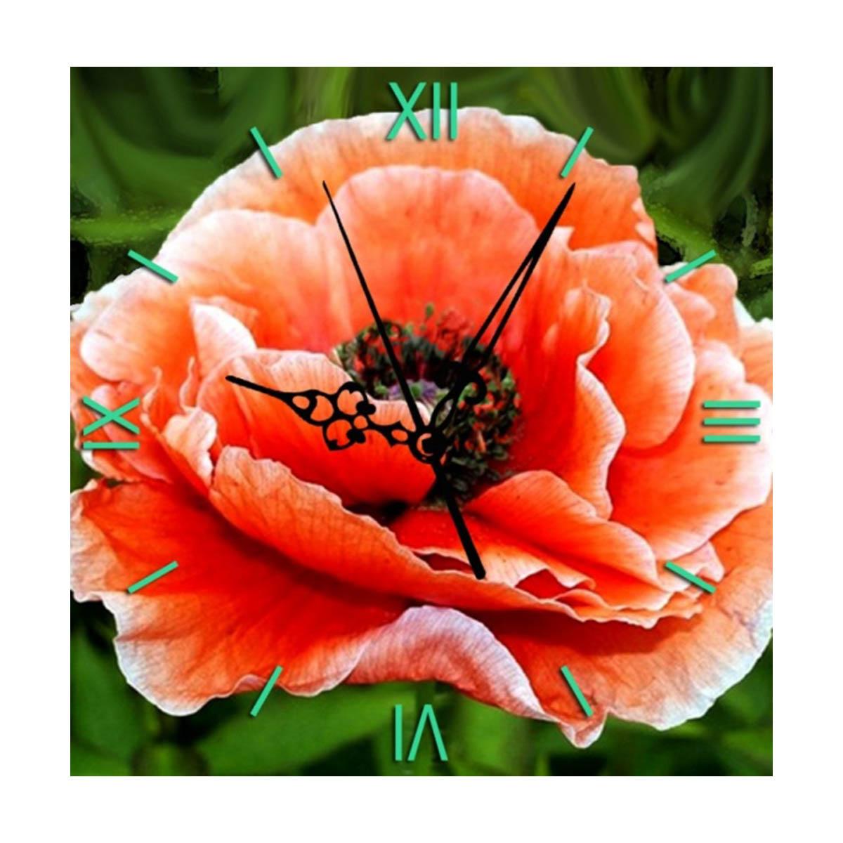 7303011P Алмазные часы Колор Кит 'Нежный мак' 30*30см