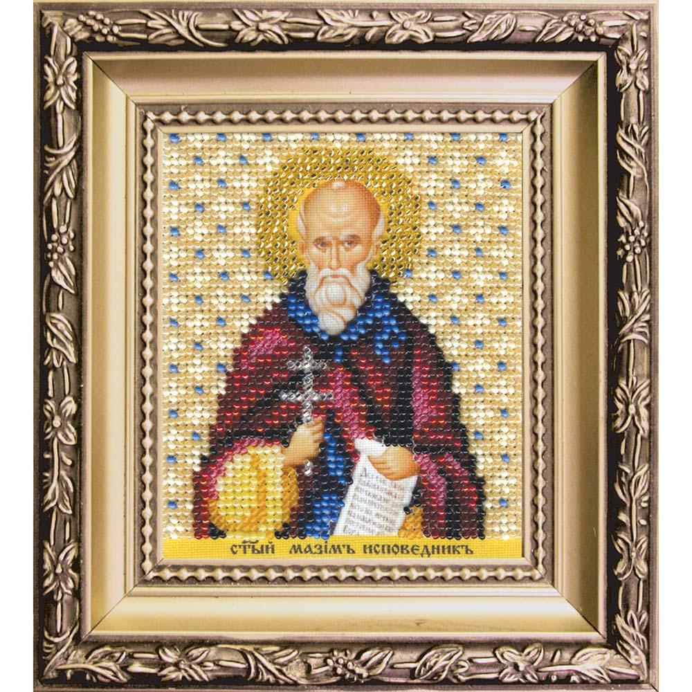 Б-1210 Набор для вышивания бисером 'Чарівна Мить' 'Икона святой Максим Исповедник', 9*11 см