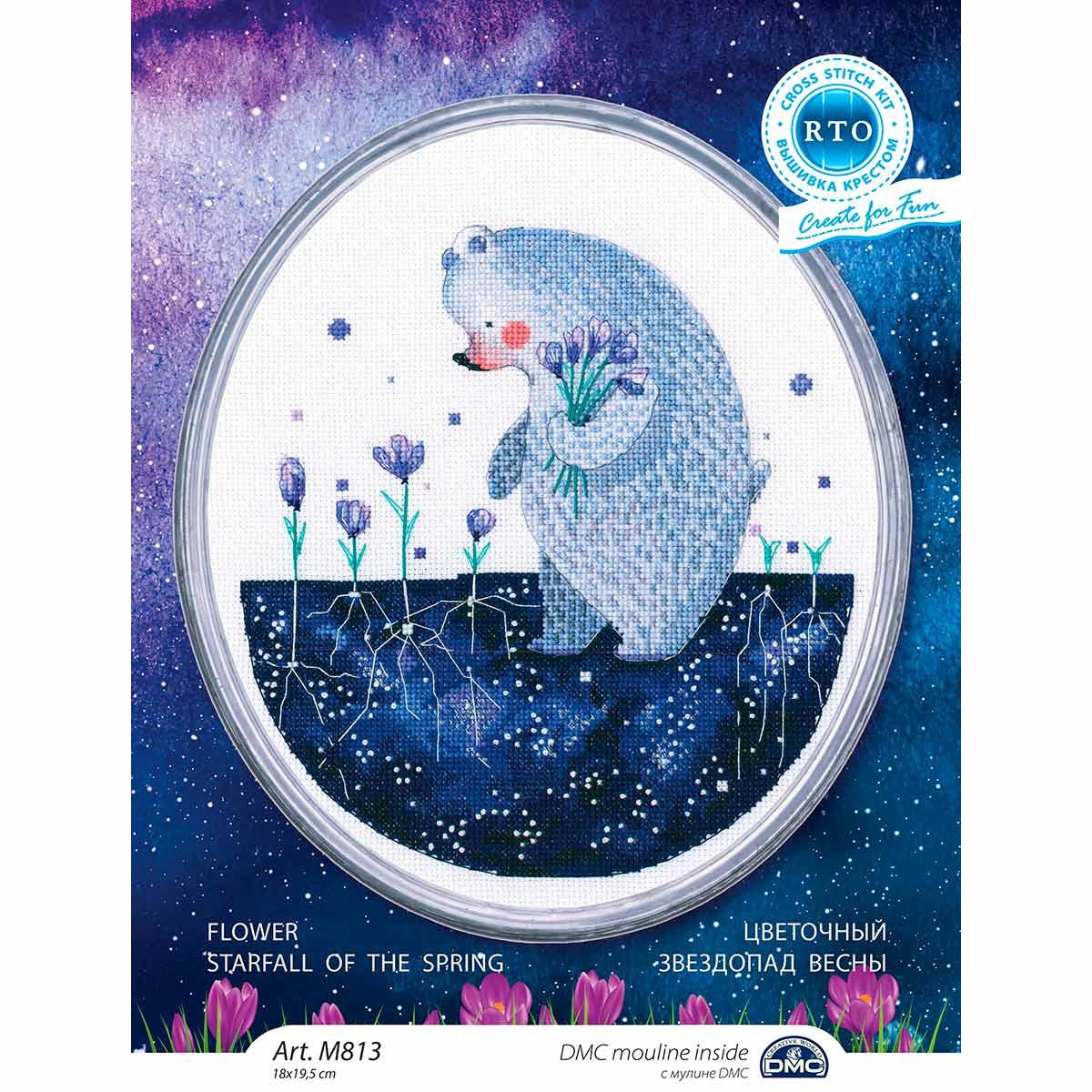М813 Набор для вышивания РТО 'Цветочный звездопад весны' 18*19,5см