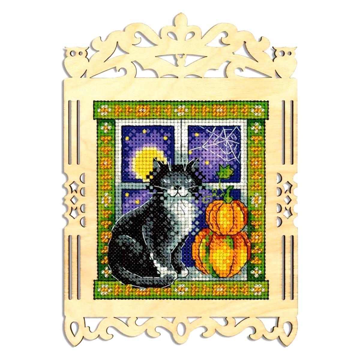 О-003 Набор для вышивания на деревянной основе 'Пушистый сторож' 19*14/11*10см