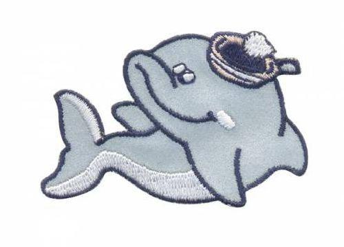"""Термоаппликация AD1375SV """"Дельфин"""", Hobby&Pro"""