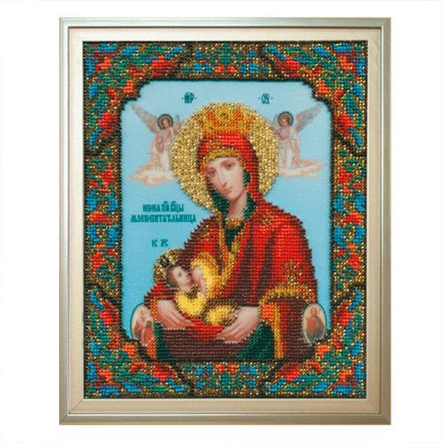 Б-1044 Набор для вышивания бисером Чарівна Мить 'Икона Божьей Матери Млекопитательница' 17,3*21,7см