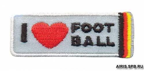 AD1389SV Термоаппликация 'Я люблю футбол', 2*5,5 см, Hobby&Pro