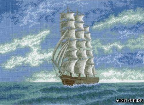 645 Набор для вышивания Hobby&Pro 'Корабль' 38*24см