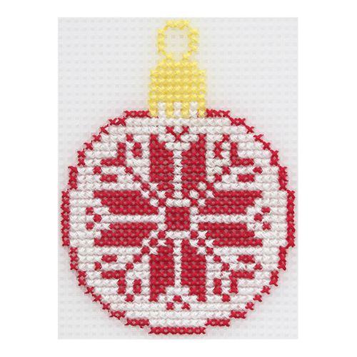 """Набор для вышивания на пластиковой канве """"Шарик красный"""", 8х10 см, П-0024, Hobby&Pro"""