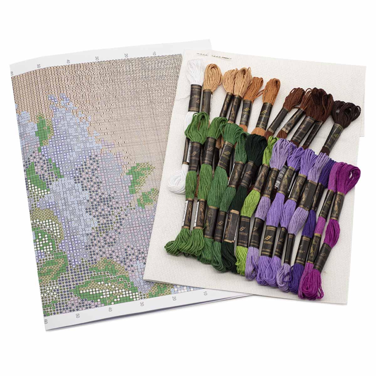 """Набор для вышивания 651 """"Сирень"""", 21х25 см, Hobby&Pro"""
