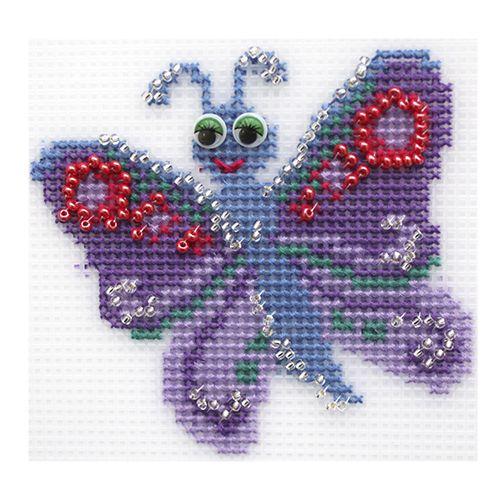 """Набор для вышивания на пластиковой канве П-0033 """"Бабочка"""", 10х9,5 см, Hobby&Pro"""