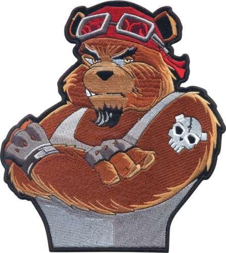 AD1410 Термоаппликация 'Медведь гонщик', 22,5*20 см, Hobby&Pro