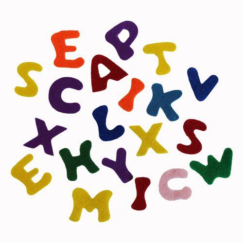 61212202 Фетр для творчества 'Буквы', упак./150 шт., Glorex